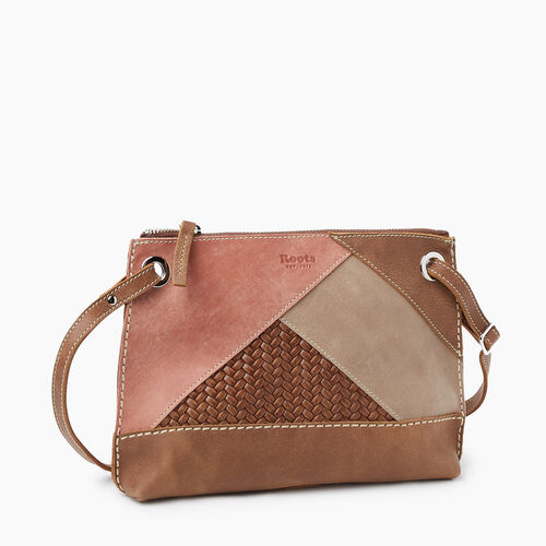Roots-Women Crossbody-Edie Bag Patchwork-Natural-A