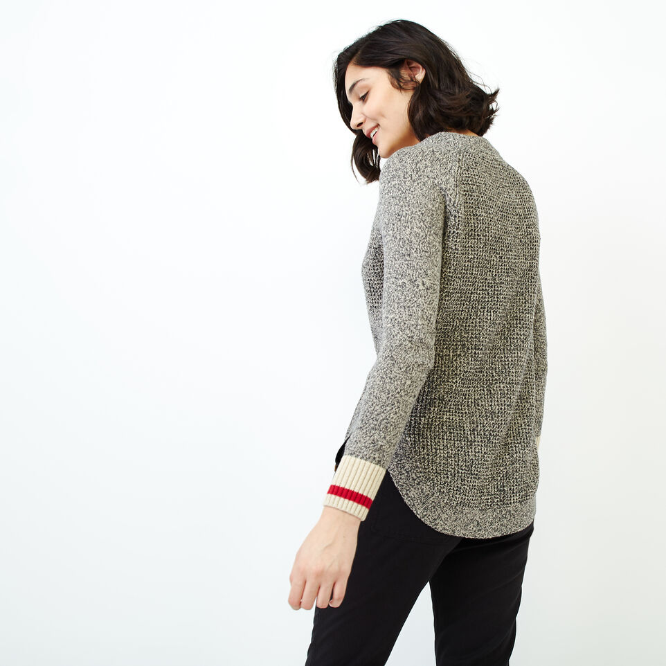 Roots-Women Our Favourite New Arrivals-Roots Cotton Cabin Waffle Crew-Grey Oat Mix-D