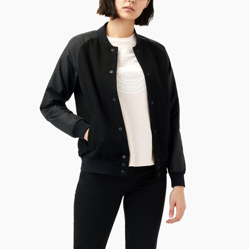 Roots-Sale Women-Laval Awards Jacket-Black-A