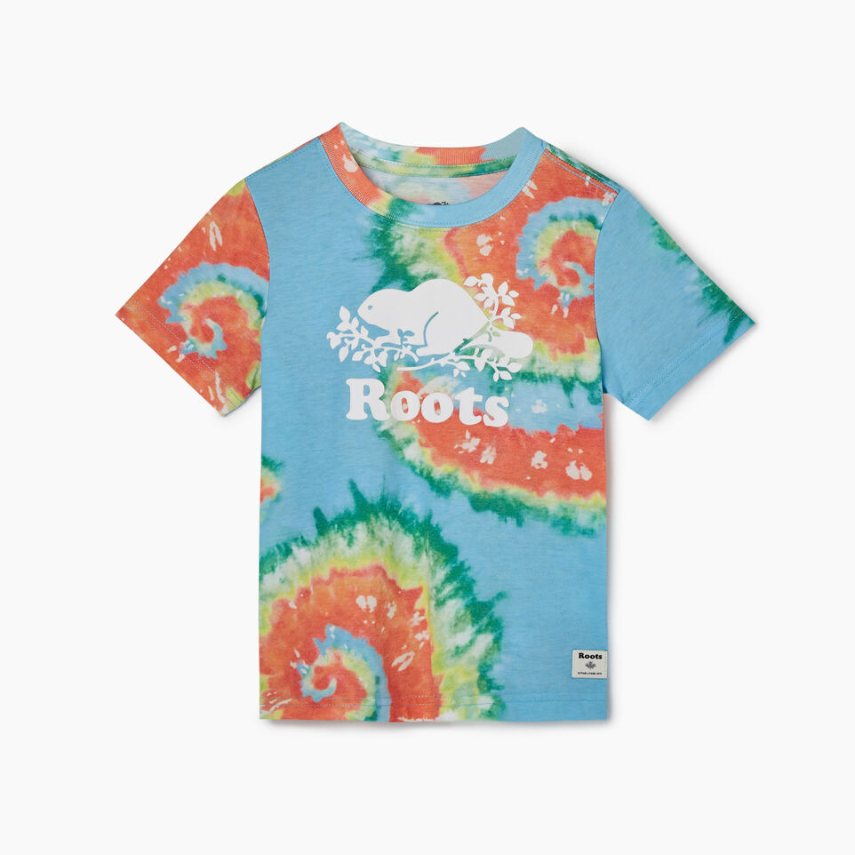 Roots-Kids Tops-Toddler Cooper Beaver T-shirt-Multi-A