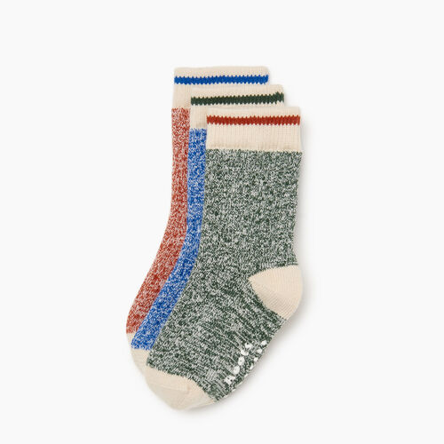 Roots-Kids Accessories-Toddler Cabin Sock 3 pack-Multi-A