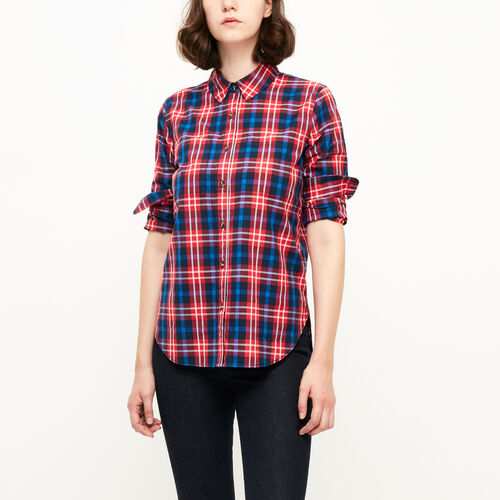 Roots-Clearance Women-Brookside Poplin Shirt-Lollipop-A