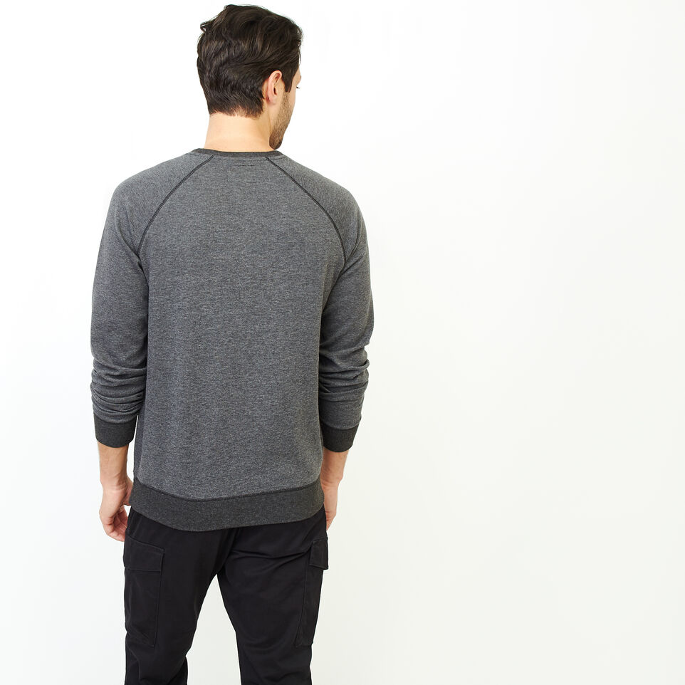 Roots-Men Our Favourite New Arrivals-Cozy Thermal Henley-Charcoal Mix-D