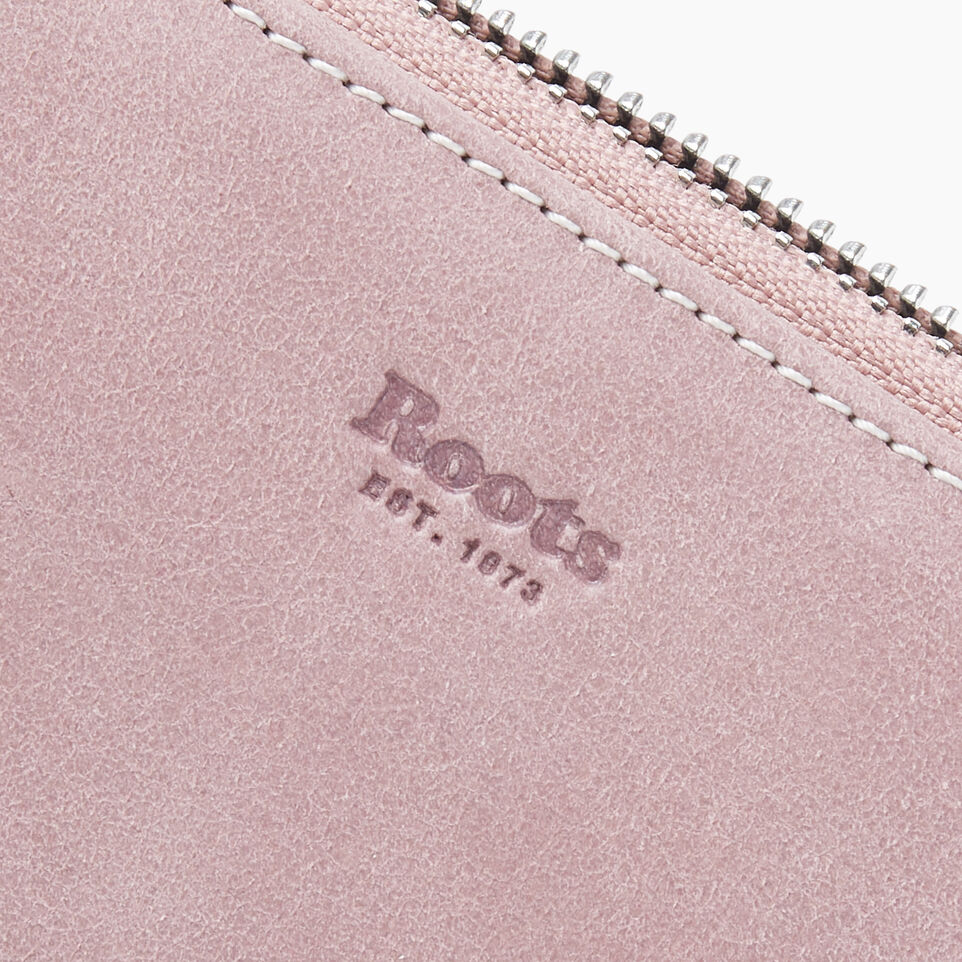 Roots-Leather New Arrivals-Small Zip Wallet Tribe-Woodrose-D