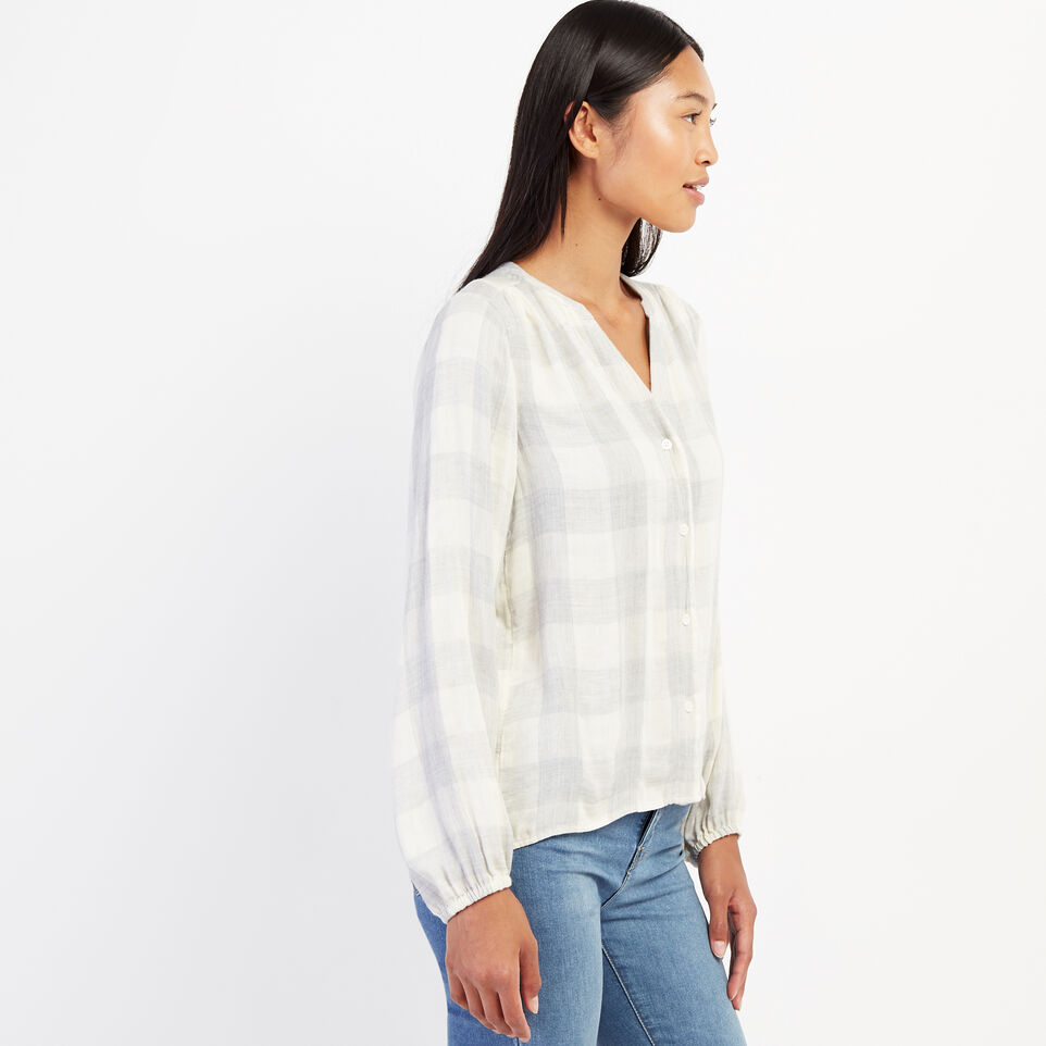 Roots-undefined-Park Plaid Peasant Top-undefined-C