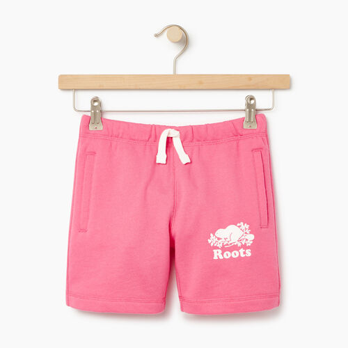 Roots-Clearance Kids-Girls Original Roots Short-Azalea Pink-A