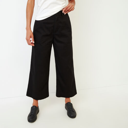 Roots-Women Categories-Widewater Pant-Black-A