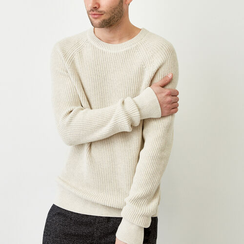 Roots-Men Bestsellers-Baffin Fishermans Sweater-Oatmeal Mix-A