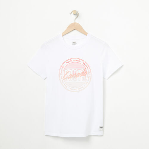 Roots-Women New Arrivals-Womens Happy Camper T-shirt-White-A
