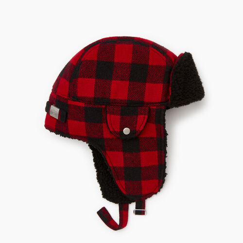 Roots-Men Our Favourite New Arrivals-Roots Park Plaid Trapper Hat-Cabin Red-A