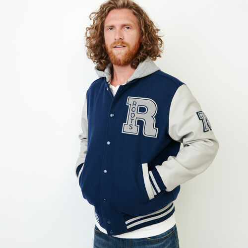 Roots-Men Categories-Mens Hoody Award Jacket-Navy-A