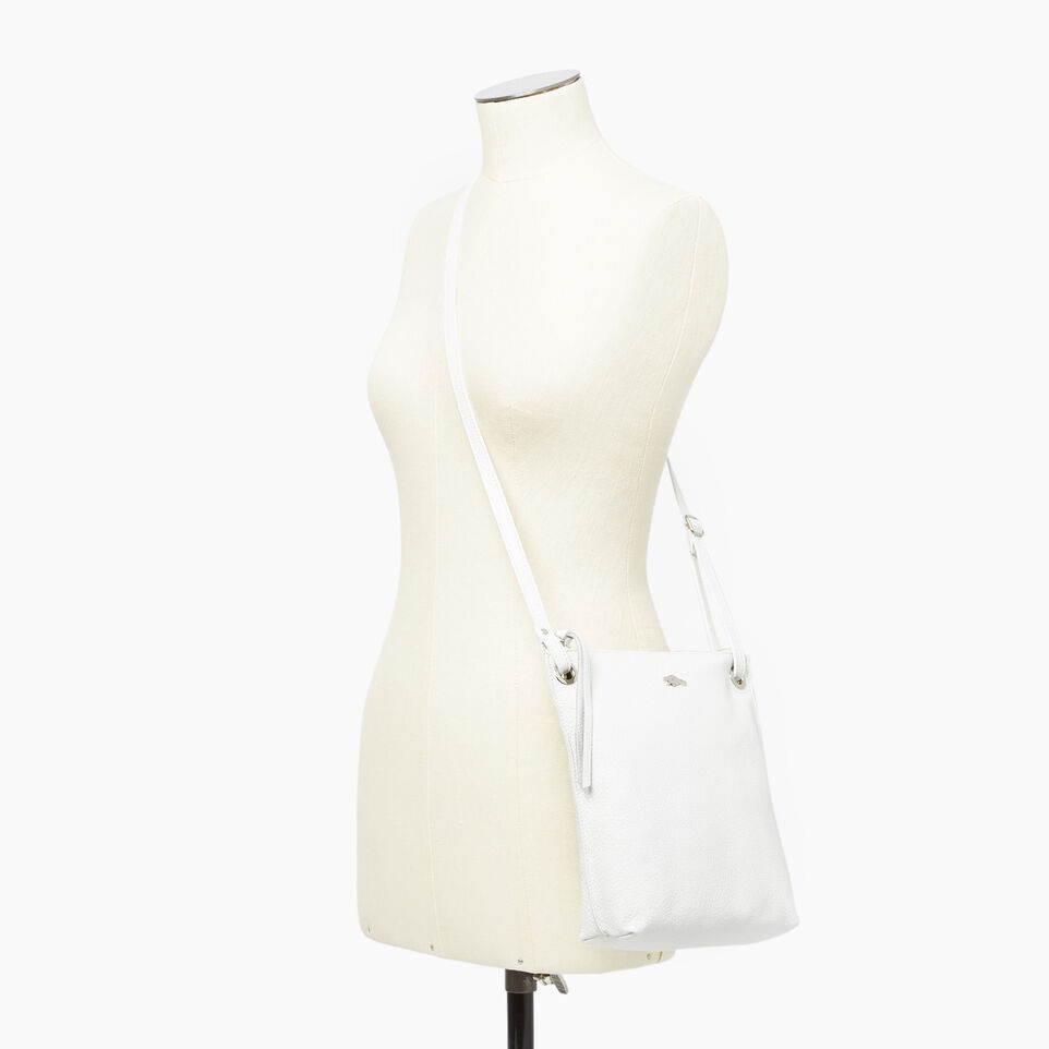 Roots-Leather  Handcrafted By Us Our Favourite New Arrivals-Festival Bag-White-B