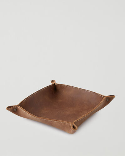 Roots-Leather Leather Accessories-Large Leather Tray Tribe-Natural-A