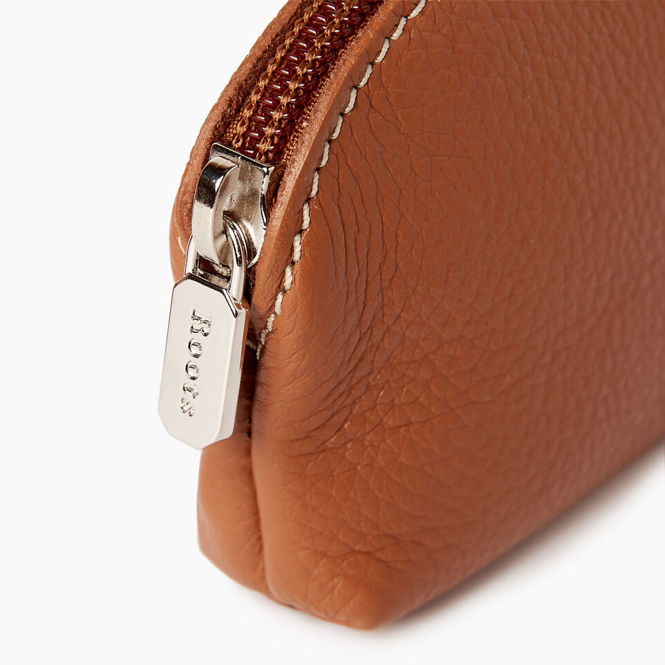 Roots-Leather Categories-Small Euro Pouch-Caramel-D