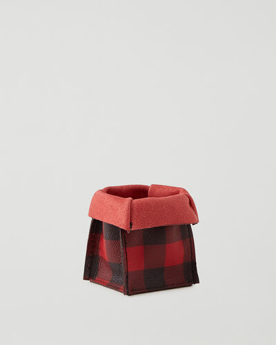 Roots-Leather Leather Accessories-Park Plaid Small Basket Cervino-Cabin Red-A