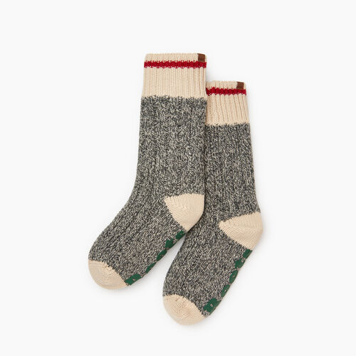 Roots-Women Socks-Roots Cabin Lounge Sock-Grey Oat Mix-A