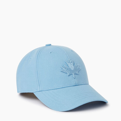Roots-Men Accessories-Modern Leaf Baseball Cap-Bonita Blue-A