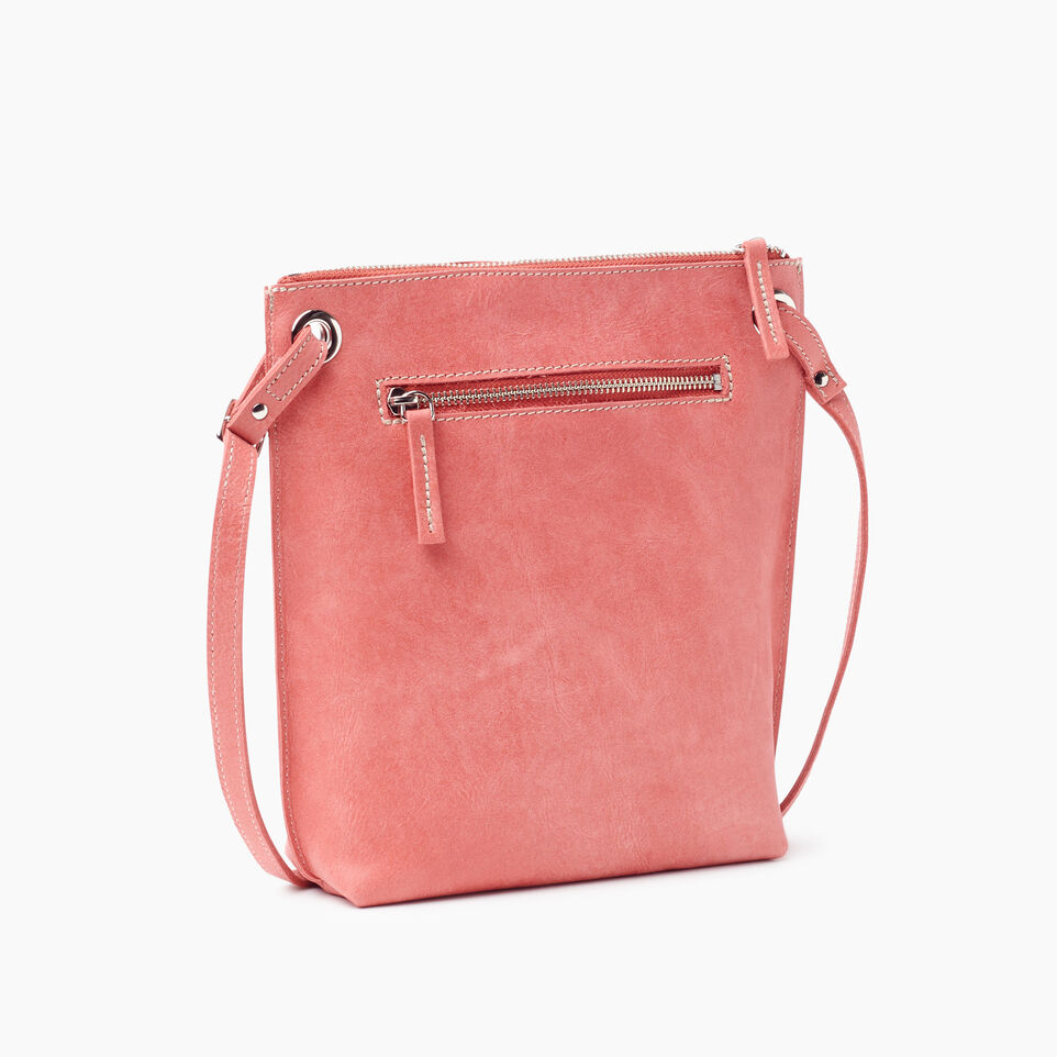Roots-Leather New Arrivals-Festival Bag-Coral-C