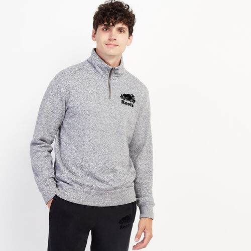 Roots-Sweats Men-Original Zip Stein-Salt & Pepper-A