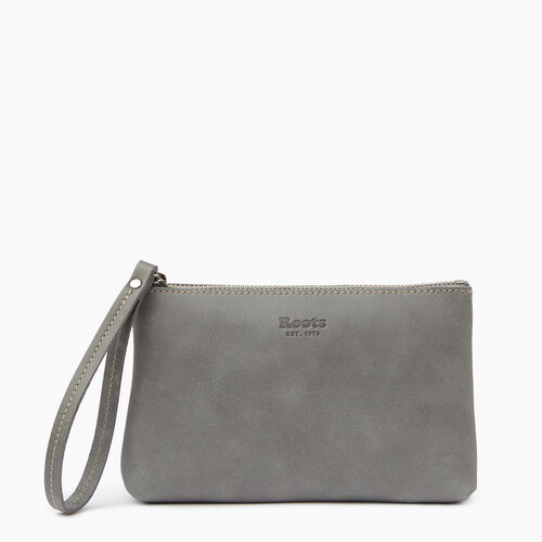 Roots-Leather  Handcrafted By Us Our Favourite New Arrivals-Wristlet Pouch-Quartz-A