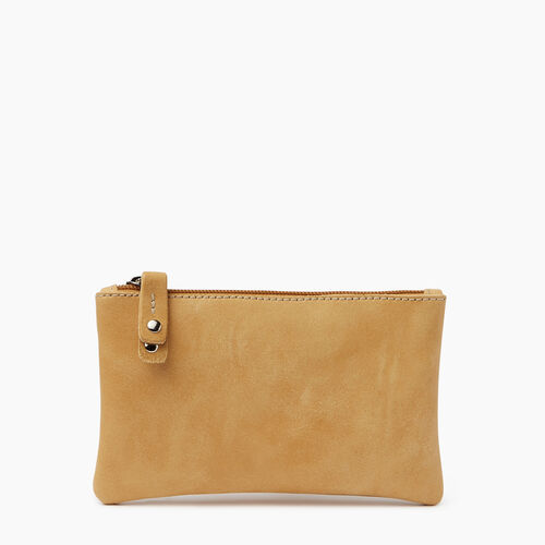 Roots-Leather  Handcrafted By Us Categories-Medium Zip Pouch Tribe-Medallion-A