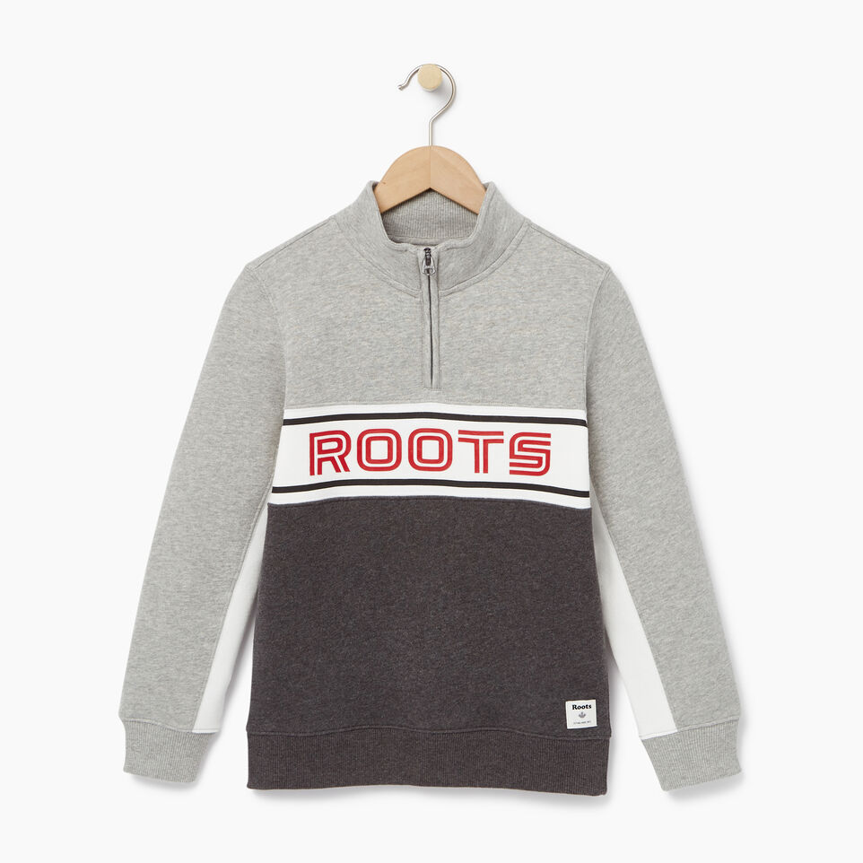 Roots-undefined-Boys Sportsmas 1/4 Zip Pullover-undefined-A