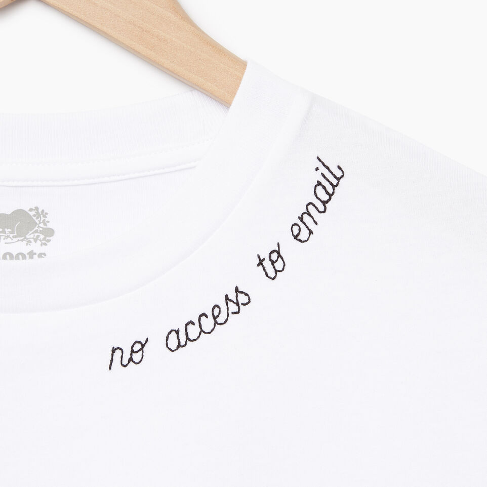 Roots-New For July Daily Offer-Womens Communication T-shirt-Crisp White-D