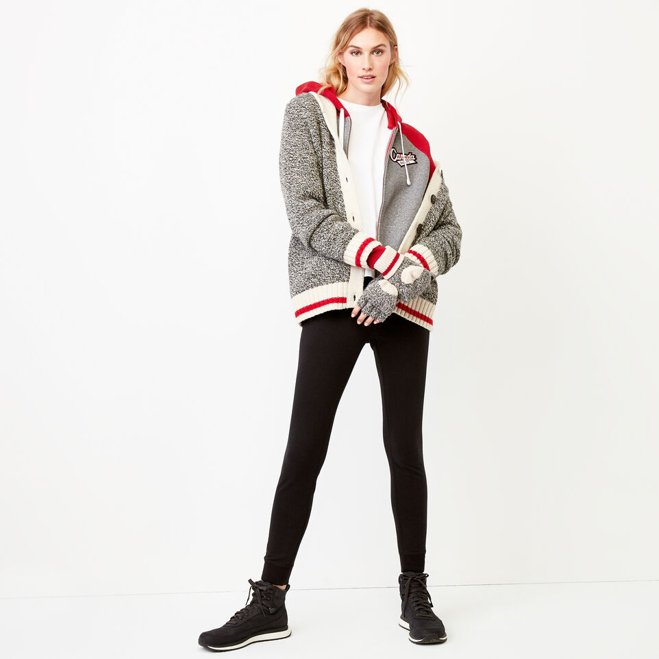 Roots-Women Our Favourite New Arrivals-Canada Full Zip Hoody-Salt & Pepper-B
