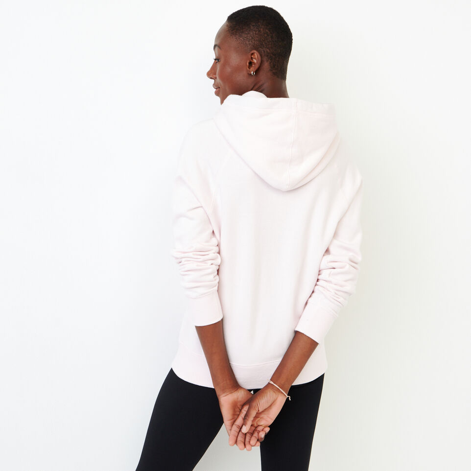 Roots-Women New Arrivals-Stamps Kanga Hoody-Cradle Pink-D