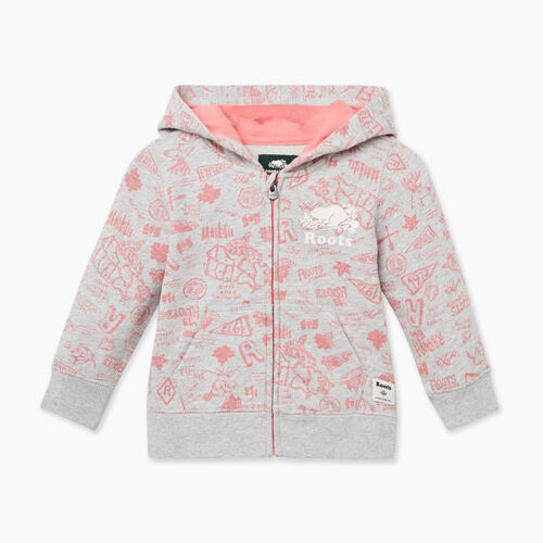 Roots-Kids Baby-Baby Camp Full Zip Hoody-Snowy Ice Mix-A