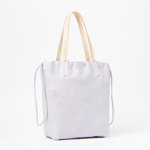 Roots-Leather New Arrivals-Drawstring Tote Tribe-Thistle-A