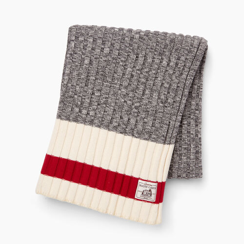 Roots-Women General Store-Cabin Sweater Throw-Grey Oat Mix-A