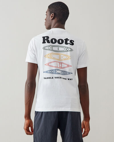Roots-Men New Arrivals-Mens Paddle Your Own Way T-shirt-White-A