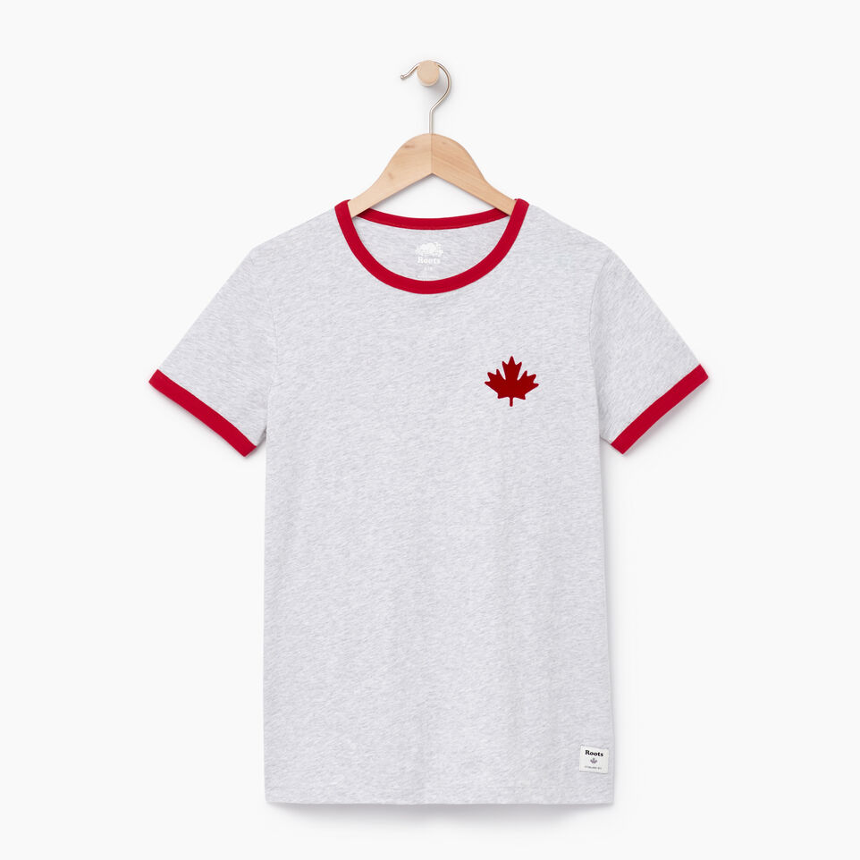 Roots-New For August Women-Womens Canada Ringer T-shirt-Snowy Ice Mix-A