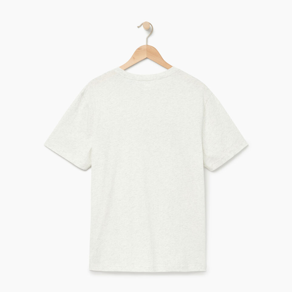 Roots-Men Our Favourite New Arrivals-Mens Roots Runner T-shirt-Ivory Pepper-B