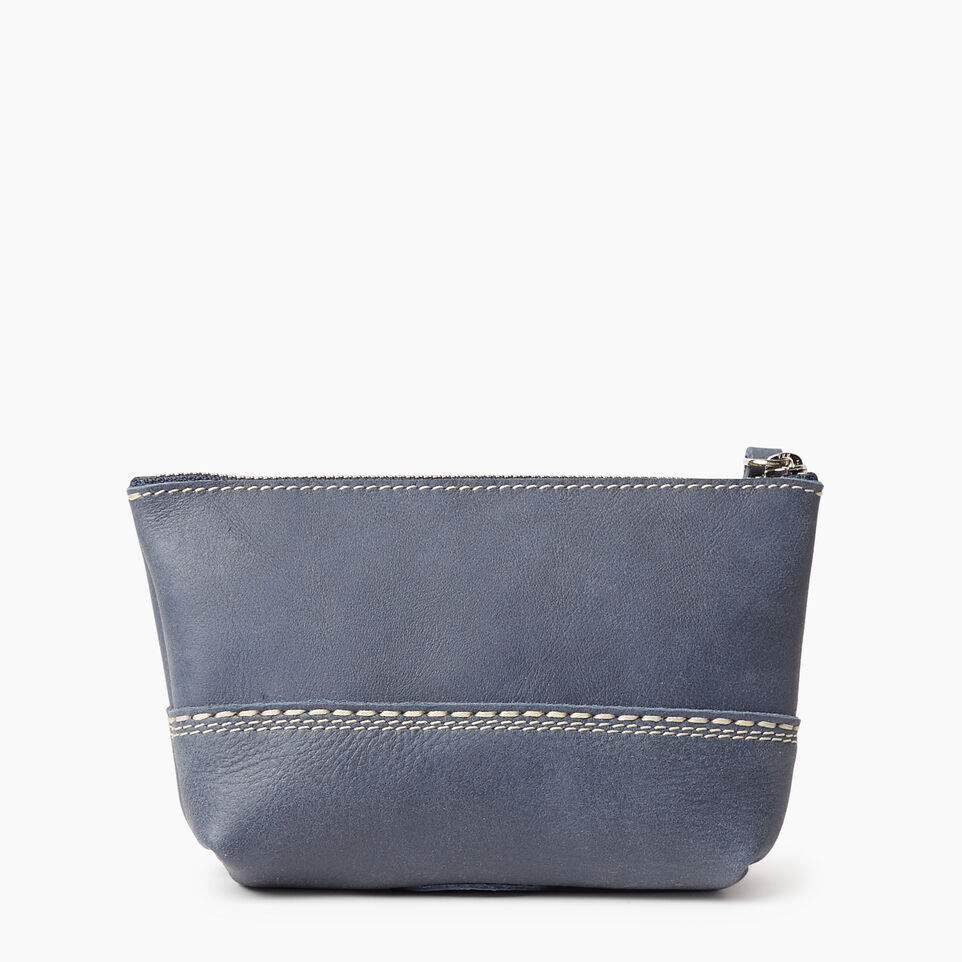 Roots-Leather New Arrivals-Small Canmore Pouch Tribe-Navy-B