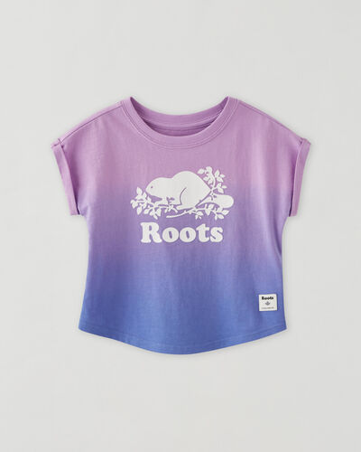 Roots-Kids Baby-Baby Cooper Beaver T-shirt-Sheer Lilac-A