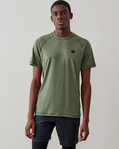 Roots-Men Tops-Journey T-shirt-Washed Olive Mix-A