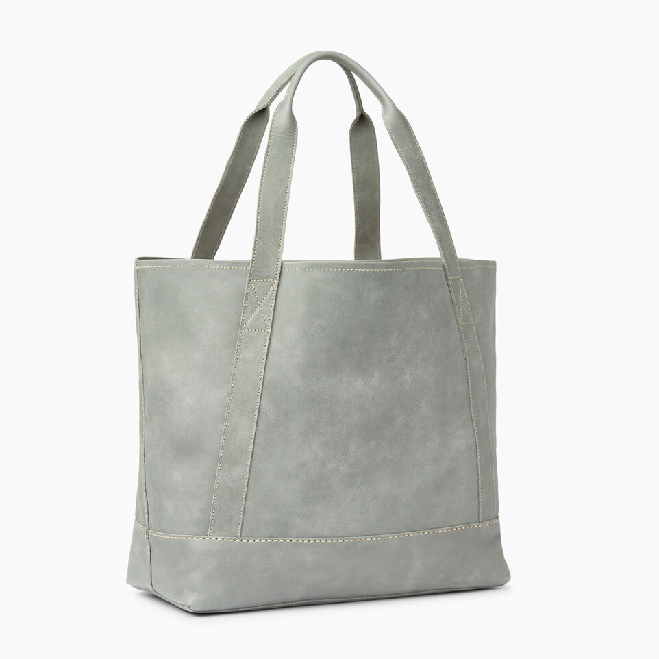 Roots-Leather  Handcrafted By Us Handbags-Muskoka Tote-Quartz-C