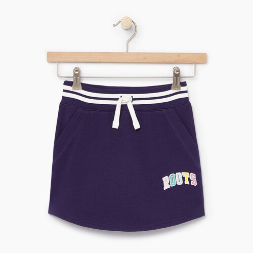 Roots-Clearance Kids-Girls Roots Varsity Skirt-Eclipse-A