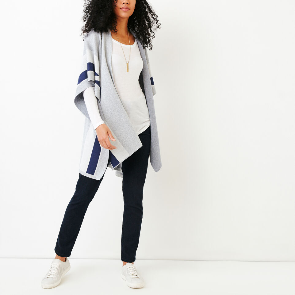 Roots-Women Our Favourite New Arrivals-Travel Wrap-Grey Mix-B