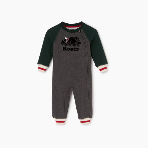 Roots-Kids Baby Boy-Baby Buddy Romper-Varsity Green-A