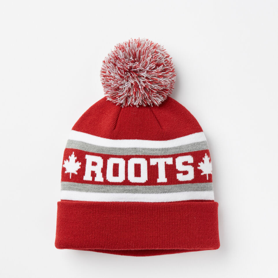Roots-undefined-Kids Heritage Pom Pom Toque-undefined-A