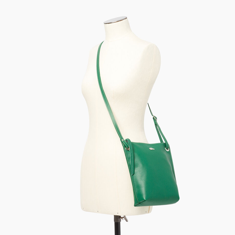 Roots-Leather  Handcrafted By Us Categories-Festival Bag-Emerald-B
