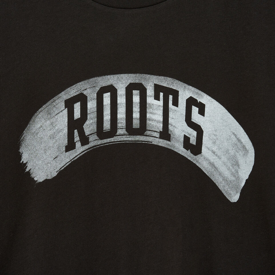 Roots-Men Our Favourite New Arrivals-Mens Brushed Arch T-shirt-Black-D