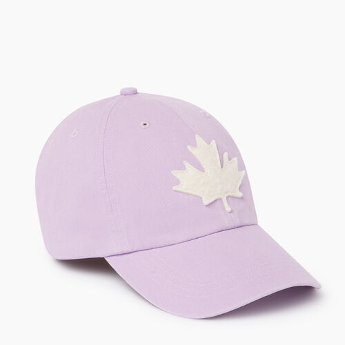 Roots-Men Accessories-Canada Leaf Baseball Cap-Lavendula-A