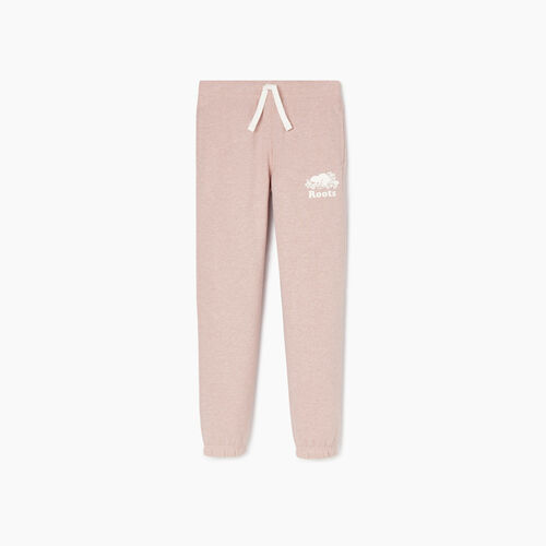Roots-Kids Bottoms-Girls Original Roots Sweatpant-Deauville Mauve Mix-A