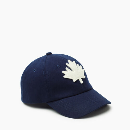 Roots-Kids New Arrivals-Kids Canada Baseball Cap-Navy-A