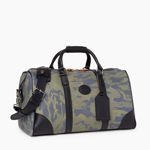 Roots-Leather Weekender Bags-Small Banff Camo-Green Camo-A