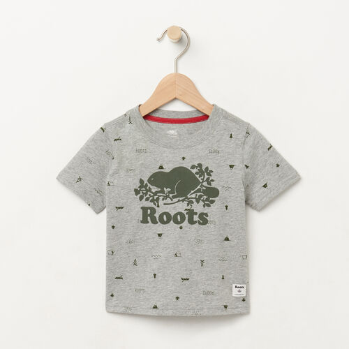Roots-Kids T-shirts-Baby Camp T-shirt-Grey Mix-A